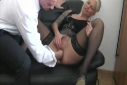 German cums from fisting at work